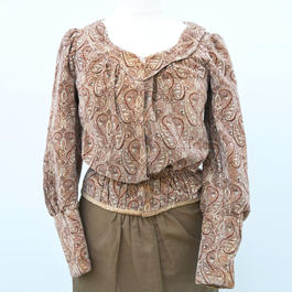 early 20th c. damask paisley print blouse