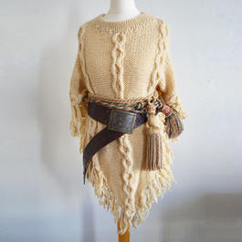 1970s knit cape sweater