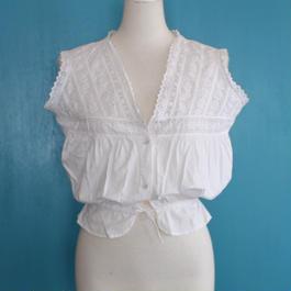 Edwardian white cotton top