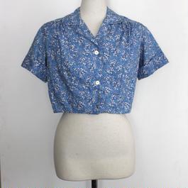 1950s flower printed top