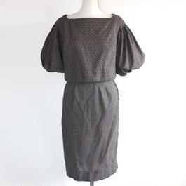 1960s paisley printed dress set