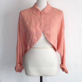 1930s / 1940s  pink cardigan blouse