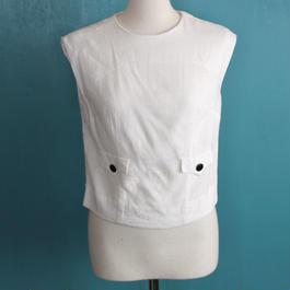 1960s white linen top