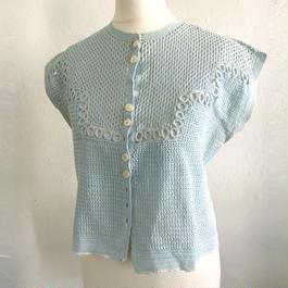 1940s / 1950s  crochet knit top