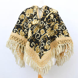 1960s floral Tapestry Cape