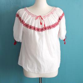 Vintage Romanian folk blouse
