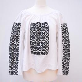 Vintage Eastern European folk peasant blouse