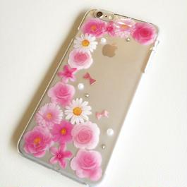 押し花フラワーiphoneケース(iphone各種類対応)