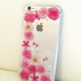 押し花フラワーiPhoneケース(お花敷き詰め)