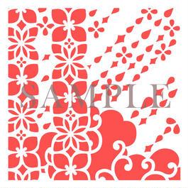 【図案12×12】#004縞紫陽花