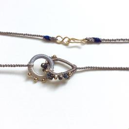 シルクリングのネックレス(サファイア)