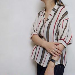 ストライプスキッパーシャツ 2col