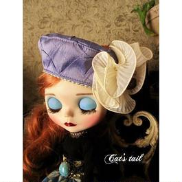 ドールサイズ・シルク生地のベレー帽