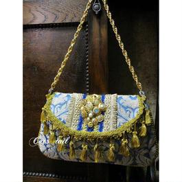 イタリア生地のタッセルブレード付き貴婦人バッグ
