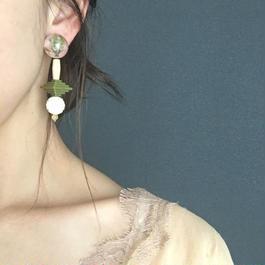 耳飾りWater flower =halfcube S  206=