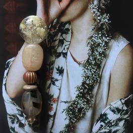 耳飾りWater flower =halfcube M  211=