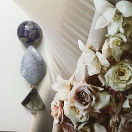 耳飾りWater flower =halfcube M  231=