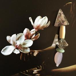 耳飾りWater flower =triangle 194 =