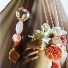 耳飾りWater flower =halfcube S  205=