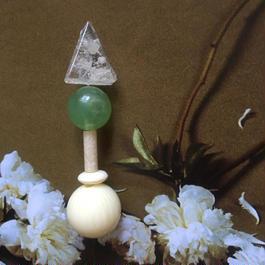 耳飾りWater flower =triangle  218=