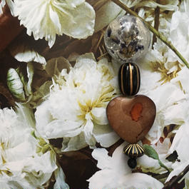 耳飾りWater flower =halfcube M  230=