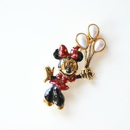 DISNEY☆NAIPERディズニーミニーパール風船ブローチ