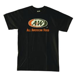 A&WロゴTシャツ:ブラック