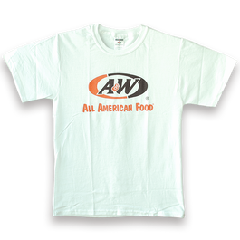 A&WロゴTシャツ:ホワイト(キッズ用)