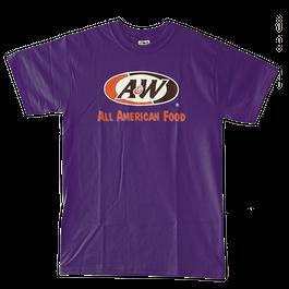 A&WロゴTシャツ:パープル