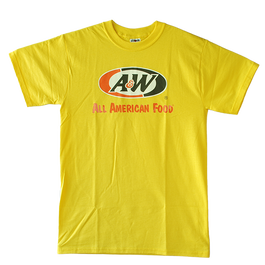 A&WロゴTシャツ:イエロー