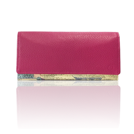 "made in Ryogoku ""粋"" HOKUSAI  Long Wallet  (PINK)"