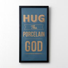 Hug the Porcelain God(ブルーグレー×ゴールド)