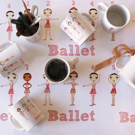 Mug 'Ballet Positions' マグカップ(本体価格:¥1,700)