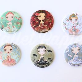 ポケットミラー(BALLET ÈTOILES 全6種 本体価格:¥600)PMAE01