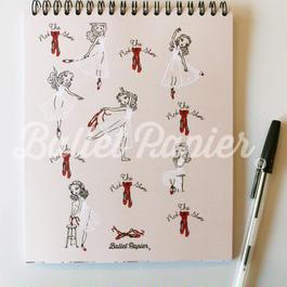 ノート 'THE RED SHOES'(本体価格:¥1,500)NAR01