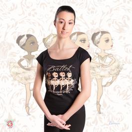 Low Neckline Style T-shirt 'Little Swans'(本体価格:¥4,500)