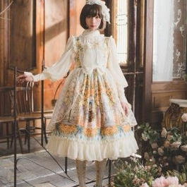 Secret garden フリルジャンパースカート【入金確認後3日以内配送】