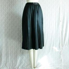 Vintage【Yue Huia】 Satin silk Pleats skirt