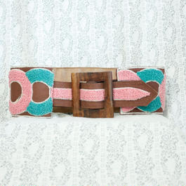 Vintage Wood buckle Belt