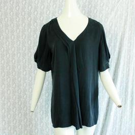 Black Silk Design Tops