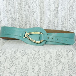 Vintage Skyblue Leather Belt