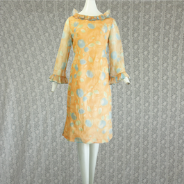 1970's Vintage Seethrough Flower Onepiece