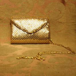 Vintage Gold Spangle Shoulder Bag