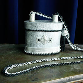 Vintage Shoulder Bag <Silver >