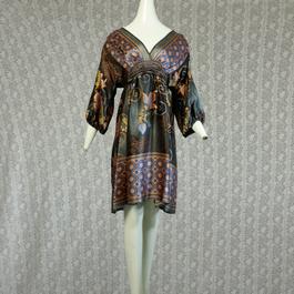 1980's Vintage Oriental Silk Onepiece