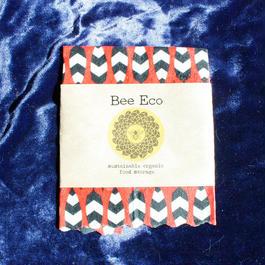 Bee Eco Wrap 【size S】18cm×18cm / s-06