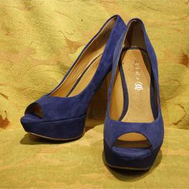 Blue Suede Heel