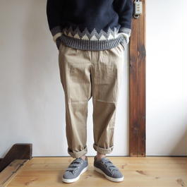 YAECA MEN CHINO CLOTH PANTS タックテーパード