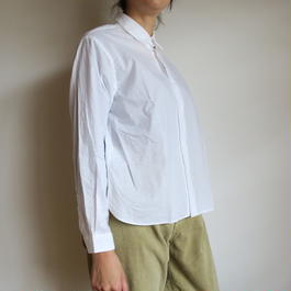 YAECA WOMEN Comfort Shirt wide-short WHITE 161201