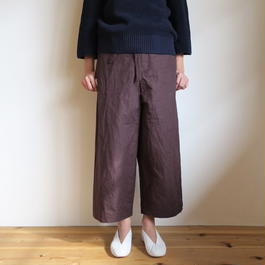 YAECA WRITE WOMEN belt pants BROWN